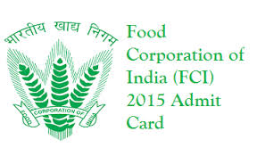 fci admit card download