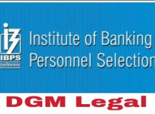 ibps dgm legal recruitment