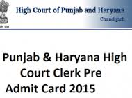 punjab & haryana high court admit card download