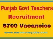 Punjab Govt Teachers Recruitment