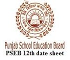 pseb 12th datesheet download