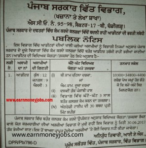 Punjab Govt Finance department