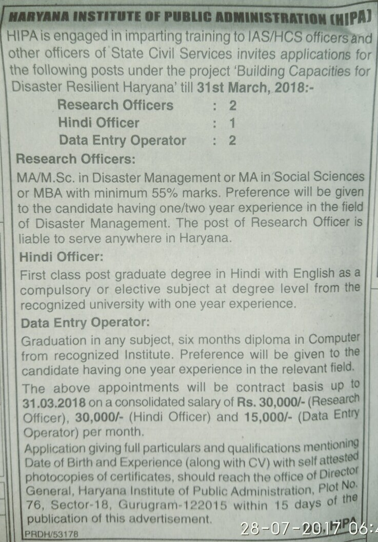 Hipa recruitment