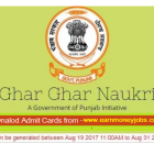 punjab job fair admit cards