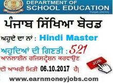 hindi master vacancies