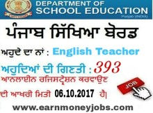 english master vacancies
