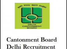delhi cantonment board recruitment