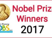 Nobel prize winners 2017