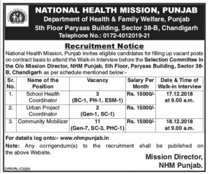 Nhm recruitment nov 2018