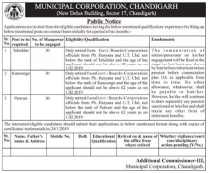 municipal corporation recruitment