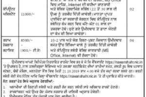 mgnrega sbs nagar recruitment