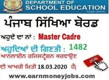 master cadre vacancies