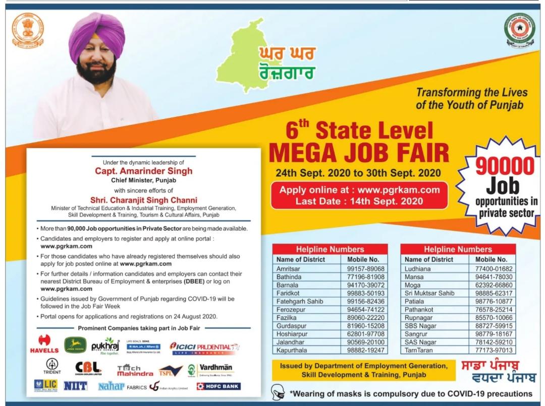 Punjab job fair 2020