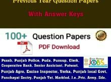 punjab previous papers