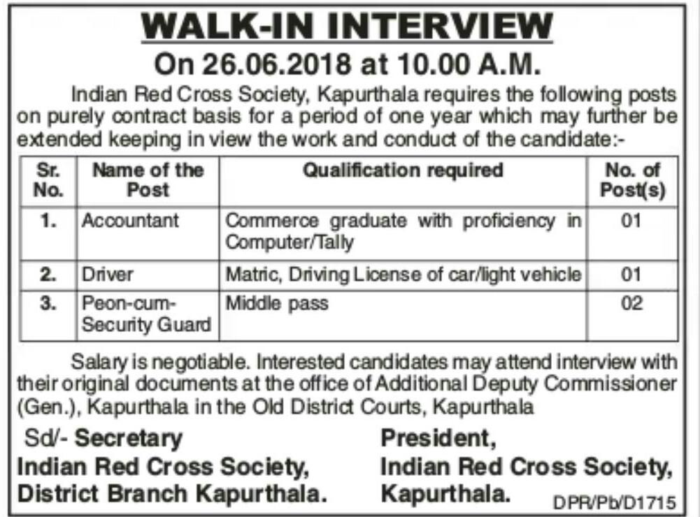 Red cross society kapurthala