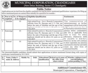 municipal corporation recruitment