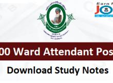 bfuhs ward attendant study material