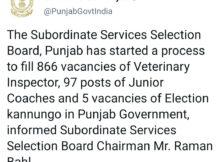 punjab animal husbandry recruitment 2021